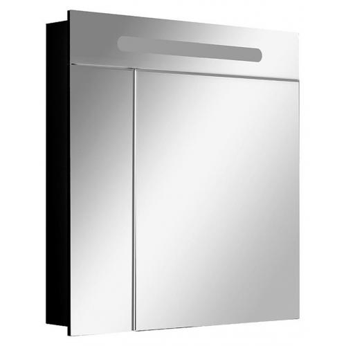 Зеркальный шкаф ROCA Victoria Nord Black Edition 80 см, с подсветкой, чёрный, ZRU9000100