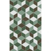 Декор Веста зеленый 02 25х40