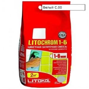 Затирка LITOCHROM 1-6 С.00 белая 2 кг 191  СК000009569