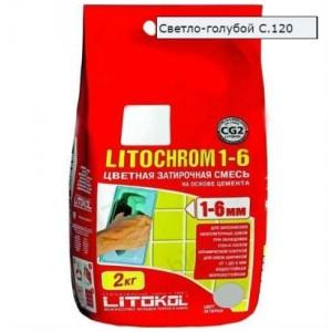 Затирка LITOCHROM 1-6 С.120 светло-голубая 2 кг 191  СК000009573