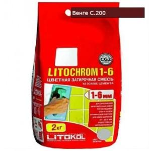 Затирка LITOCHROM 1-6 С.200 венге 2кг 244  СК000009579