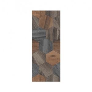 Плитка настенная Миф 1 микс коричневый 20x50 см