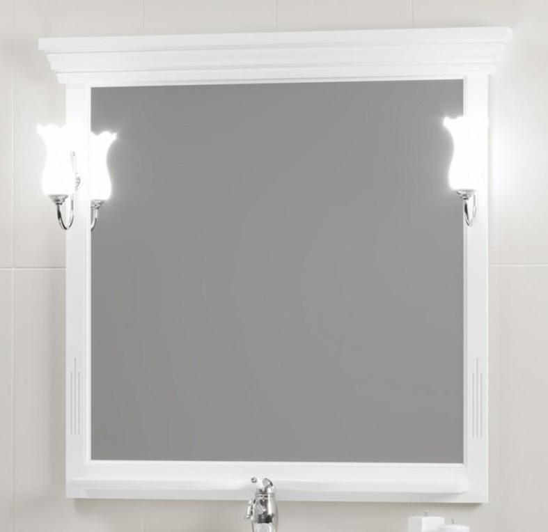 Зеркало Opadiris Риспекто 95 (104см) без свет, цвет 9003 белый
