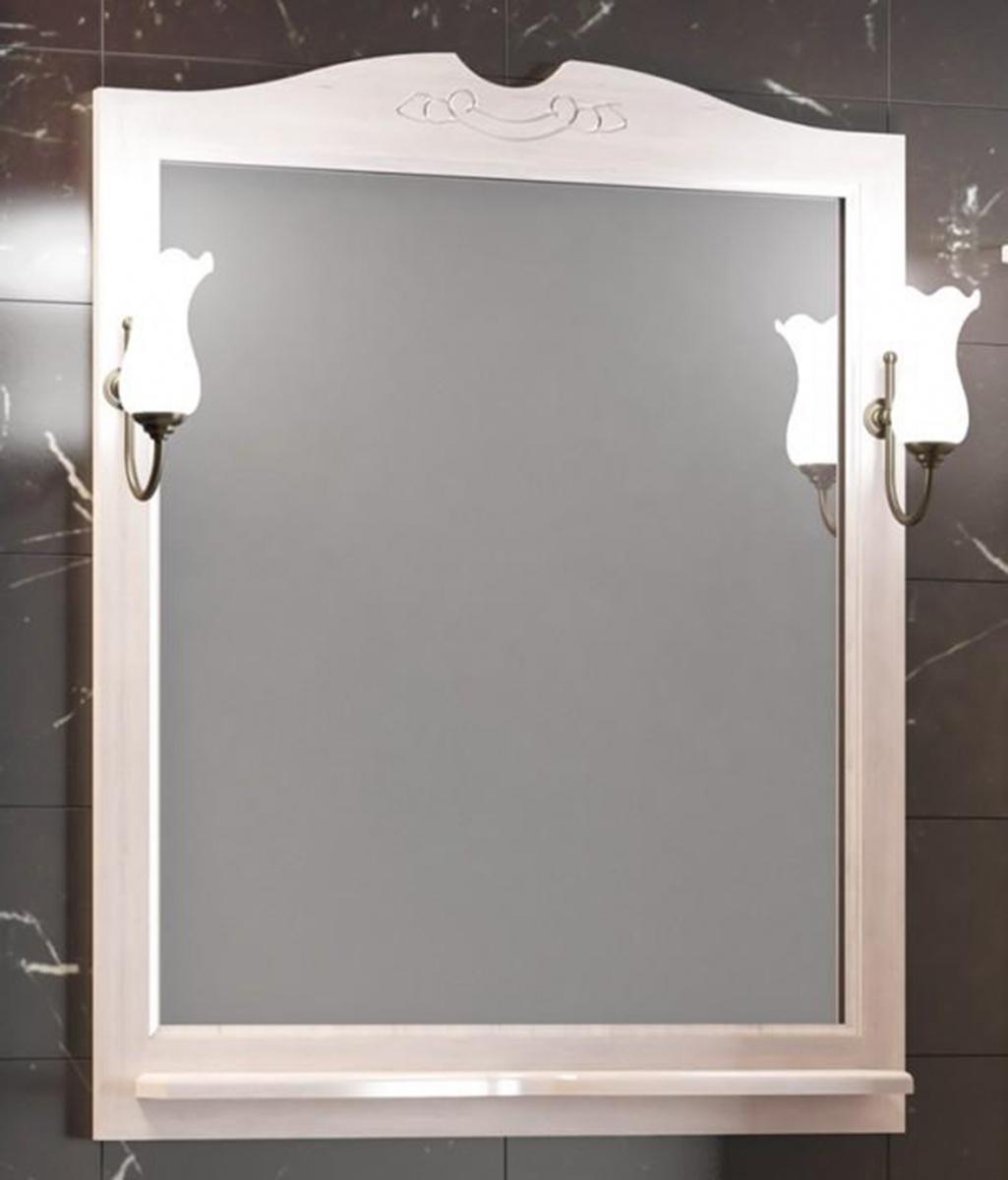 Зеркало Opadiris Тибет 80 (82см) без свет., белый матовый