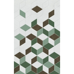 Декор Веста зеленый 01 25х40